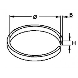 Courroie section plate 21,0 x 0,7 x 4,5 mm