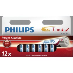 Blister 12 piles AA / LR06 Philips