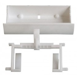 Poignée de porte blanche lave-vaisselle