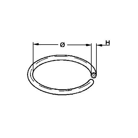 Courroie section ronde 24,0 x 1,5 mm
